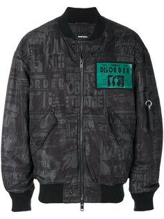 куртка-бомбер с принтом Diesel