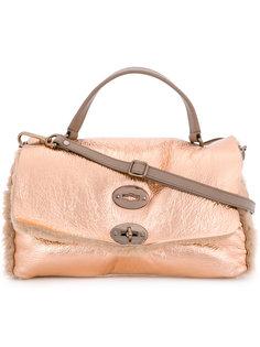 сумка на плечо с меховой оторочкой Zanellato