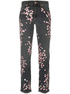джинсы с цветочной вышивкой Holan Isabel Marant