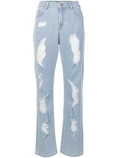 слегка расклешенные джинсы с эффектом потертости Versus