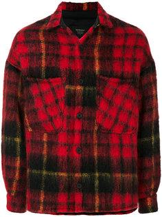 куртка-рубашка в клетку Represent