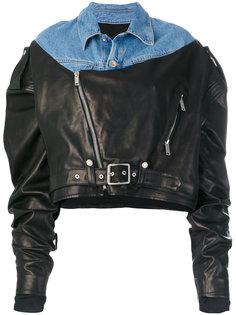 байкерская куртка с открытыми плечами  Unravel Project