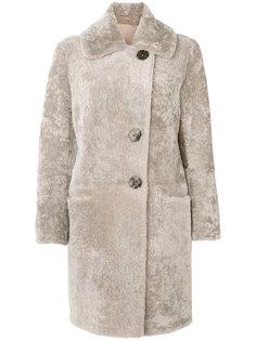 пальто с мехом  Sylvie Schimmel