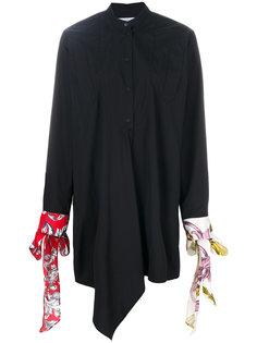 платье-шифт с манжетами-завязками J.W.Anderson