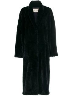 пальто с мехом норки  Sprung Frères