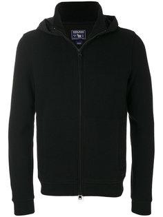 zipped knit hoodie Woolrich