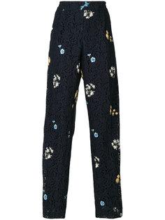 кружевные брюки с  вышивкой Nº21