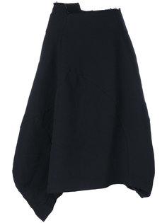 широкая панельная юбка Comme Des Garçons