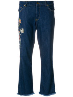embroidered skeleton cropped jeans  Zadig & Voltaire
