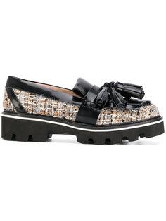 woven tassel platform loafers MSGM