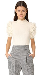 Carven Fringed Sweater