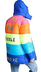 Mira Mikati Nowhere Rainbow Puffer Jacket