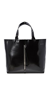 KARA Large Betty Leather Panel Tote
