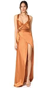 Michelle Mason Cross Back Wrap Gown