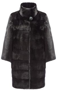 Жакет из аукционного меха норки SAGA furs с комбинированной раскладкой меха Fellicci