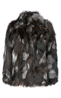 Жакет из меха серебристо-черной лисы Virtuale Fur Collection