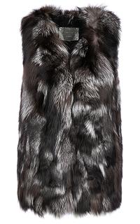 Жилет из меха чернобурой лисы Virtuale Fur Collection