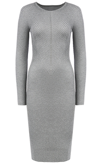 Серое трикотажное платье La Reine Blanche