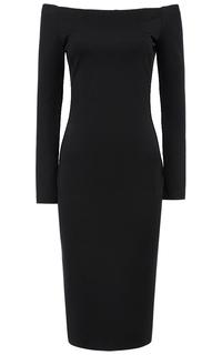 Черное платье с открытыми плечами La Reine Blanche
