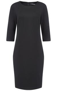 Черное трикотажное платье La Reine Blanche