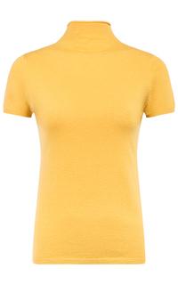 Желтый джемпер с коротким рукавом La Reine Blanche