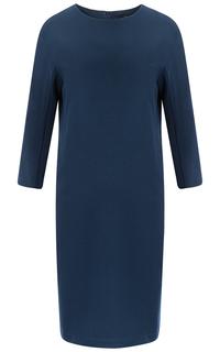 Синее трикотажное платье La Reine Blanche