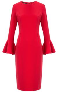 Красное платье с воланами La Reine Blanche