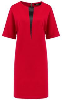 Красное трикотажное платье La Reine Blanche