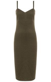 Шерстяное платье на тонких бретелях La Reine Blanche