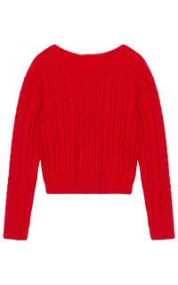 Красный вязаный джемпер La Reine Blanche