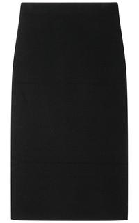 Черная трикотажная юбка La Reine Blanche