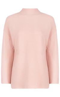 Розовый джемпер в рубчик La Reine Blanche