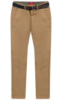 Мужские брюки с ремнем из экокожи S.Oliver Casual Man