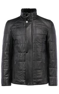 Зимняя кожаная куртка на подкладе из овчины Jorg Weber