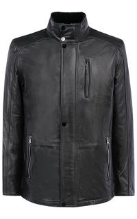 Куртка из натуральной кожи на подкладе из овчины Jorg Weber
