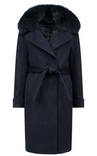 Зимнее пальто с отделкой мехом песца Elema