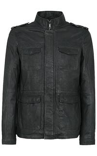 Мужская кожаная куртка на синтепоне Urban Fashion for men