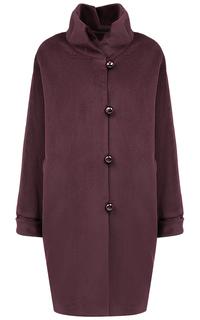 Шерстяное бордовое пальто Gamelia Experience
