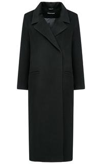 Длинное полушерстяное пальто La Reine Blanche