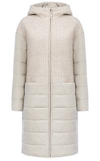 Комбинированное утепленное пальто Gamelia Experience