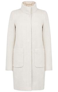 Комбинированное пальто на натуральном пуху Madzerini