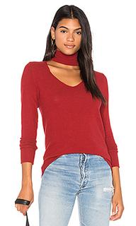Матовый свитер со съемным воротом - LNA