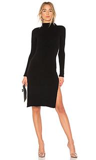 Вязаное платье с воротником водолазка 372 - LPA