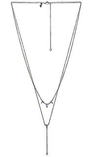Ярусное y-образное ожерелье с камнями - Rebecca Minkoff
