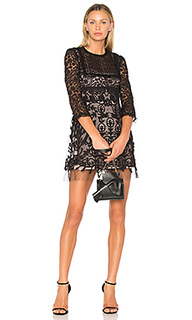 Lace fit & flare mini dress - Red Valentino