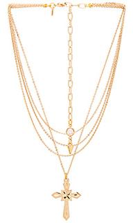 Ярусное ожерелье с крестиком valeria - Vanessa Mooney