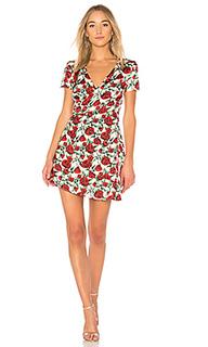 Платье с запахом cherry wine - WYLDR