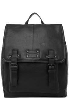 Черный рюкзак из натуральной кожи Gianni Conti