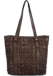 Вместительная кожаная сумка с длинными ручками Gianni Conti