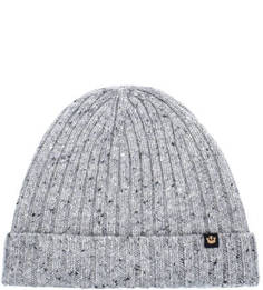 Серая вязаная шапка из шерсти Goorin Bros.